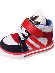 Boy's Flats Spring Summer Fall Winter First Walkers Light Soles Tulle Casual Flat Heel Blue Red