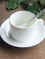 1 PC 220ML European Creative Ceramic Coffee  Bone China  And Saucer Cup Set