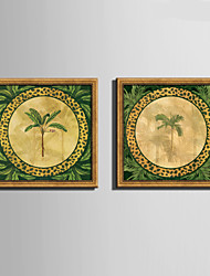 E-HOME® Framed Canvas Art A Green Tree Framed Canvas Print Set One Pcs
