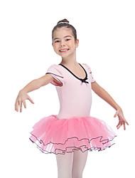 Tutus & JupesCoton Tulle LycraFemme Enfant Nœud papillon Rushé Fantaisie Spectacle Danse classique Taille haute
