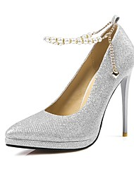Homme-Mariage Soirée & Evénement-Noir Argent Or-Talon Aiguille-Flower Girl Chaussures-Chaussures à Talons-Paillette