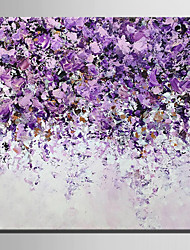 E-HOME Oil painting Modern Violet Flowers Pure Hand Draw Frameless Decorative Painting