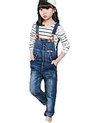 Girl Casual/Daily School Striped Sets,Cotton Spring Fall Long Sleeve Clothing Set