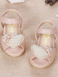 Girl's Sandals Comfort Leather Outdoor Casual Athletic Pink Beige Running