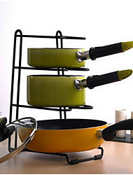 SimpleHouseware Kitchen Cabinet Pantry Pan and Pot Lid Organizer Rack Holder