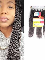 Sénégal Tresses Twist Extensions de cheveux 12Inch Kanekalon 81 Strands Brin 125g gramme Braids Hair