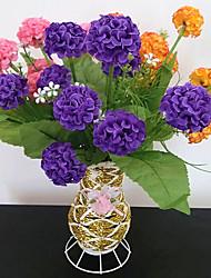 1Pc  9 Head 6 Fork Grass Hydrangea Ball Silk Artificial Flower Decorative Flower Chrysanthemum Flowers Ball Photography Props  A Bundle Sale