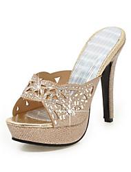 Mujer-Tacón Stiletto-Confort Zapatos del club-Sandalias-Boda Oficina y Trabajo Vestido Informal Fiesta y Noche-Purpurina Materiales