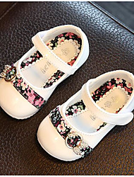 Girls' Flats Comfort Leather Athletic Casual Outdoor Running Comfort White Ruby Blushing Pink Flat