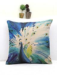 Retro Country Style Peacock Pillowcase Home Decor Pillow Cover