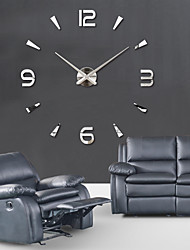 Super Big DIY Wall Clock AcrylicEVRMetal Mirror Super Big Personalized Digital Watches Clocks