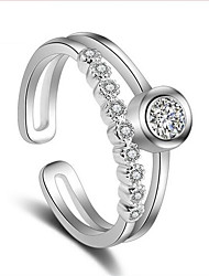 S925 silver zircon ring