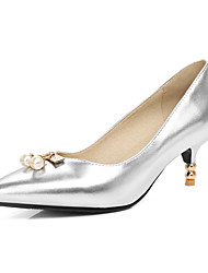 Women's Heels Spring Summer Fall Winter Club Shoes Leatherette Wedding Party & Evening Dress Stiletto HeelImitation Pearl Sparkling