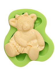 3D Gummi Bear Art and Craft Clay Silicon Cookie Molds for Cake Fondant Decoration Color Random