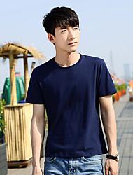 2017 Sommer-Jugend-Männer&# 39; s Kurzarm-T-Shirt der koreanischen dünnen Normalrundhals Männer&# 39; s Hemd grundiert Flut der