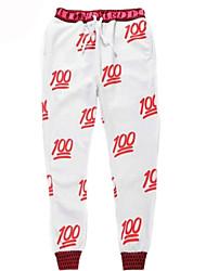 Pantalones Cosplay Vestido  de Lolita Blanco Estampado Pantalones Para Hombre Terileno Poliéster