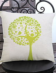 1 pcs Innovation tree printing Linen Pillow Case Animal Print Modern/Contemporary