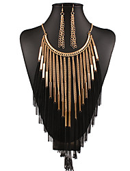 Europe and the United States foreign trade the original single alloy tassel necklaces earrings set # 0220