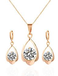 Schmuck 1 Halskette 1 Paar Ohrringe Hochzeit Party Alltag Aleación Acryl Strass 1 Set Damen Goldfarben Silber Hochzeitsgeschenke
