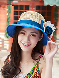 Summer New Small Fashion Handmade Hat Along The Rafi Grass Flower Hat Sun Hat Beach Hat Straw Hat