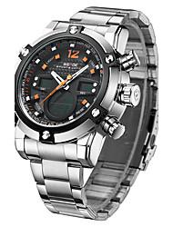 WEIDE Leisure Trend Of Big Shop Sign Steel Strip Waterproof Quartz Watch