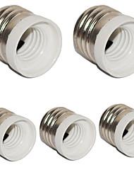 E27 to E14 Small Screw Converter Base Holder Socket for LED Light Lamp (5 Pieces)