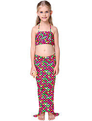Girl Animal Print Animal Print Swimwear,Cotton Polyester