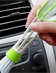 la sortie d'air automobile fente ordinateur poussière brosse de nettoyage fourrure multi-usages 2pcs tête brosse de nettoyage à brosse