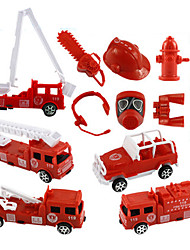 Fire Engine Vehicle Pull Back Vehicles 1:10 Plastic Red