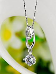 Pendants Sterling Silver Zircon Cubic Zirconia Basic Unique Design Fashion Luxury Jewelry Silver Jewelry Daily 1pc