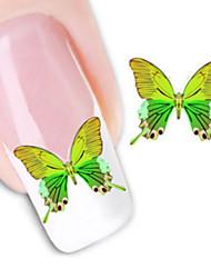 1 Adesivi per manicure Decalcomanie trasferimento di acqua Cosmetici e trucchi Fantasie design per manicure