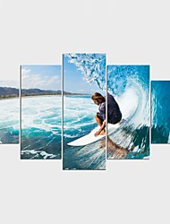 Отпечатки на холсте Люди Отдых Modern,5 панелей Холст Любая форма Печать Искусство Декор стены For Украшение дома