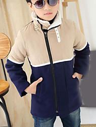 Boy's Wool Blend Jacket & Coat , Winter Long Sleeve