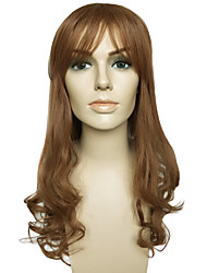 Wig Deep Wave New Fashion Women's Wig Synthetic Fiber Wig With Air Bangs With Wigs Cap