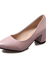 Для женщин Обувь на каблуках Удобная обувь сутулятся сапоги Полиуретан Осень Зима Повседневные Удобная обувь сутулятся сапоги ШнуровкаНа