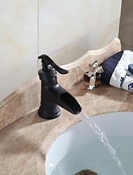 Tradicional Conjunto Central Spray Amplo with  Válvula Cerâmica Monocomando e Uma Abertura for  Bronze Oleado , Torneira pia do banheiro