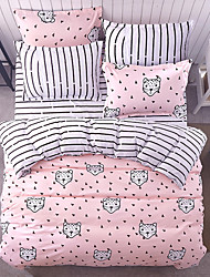 Rabbit Duvet Cover Set 1pc Duvet Cover 1pc Bed Sheet Set 2  pcs Pillowcase Bedding Set