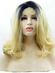 Heat Resistant Synthetic Lace Front Wig Natural Wave Hair T1B/Blonde Color Synthetic Fiber Hair Wigs