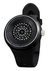 Unisex Fashion Watch Unique Creative Watch Quartz Rubber Band Black