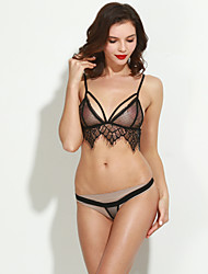 3/4 cup Bras & Panties Sets,Wireless Lace Tops Sets