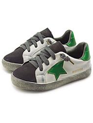 Girl's Sneakers Comfort PU Casual Black Green