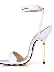Women's Sandals Summer Ankle Strap PU Party & Evening Dress Stiletto Heel Blue White Gold Burgundy