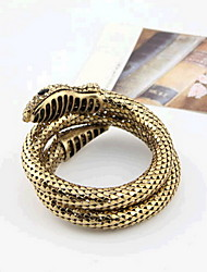 Bracelet Bangles Alloy Snake Handmade Rock Halloween Gift Jewelry Gift Gold,1pc
