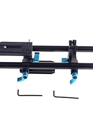 YELANGU DSLR rail 15mm rod baseplate base plate 5D2 photographic equipments kits