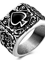 Ringe Party Alltag Normal Sport Schmuck Titanstahl Statementringe Ring 1 Stück,7 8 9 Wie in der Abbildung angezeigt
