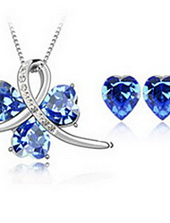 Women's Crystal Alloy 1 Necklace 1 Pair of Earrings For Party Wedding Gifts