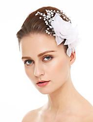 Femme Strass Mousseline Casque-Mariage Occasion spéciale Fleurs 1 Pièce