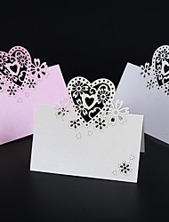 50pcs/lots Love Heart Laser Cut Wedding Party Table Name Place Cards Wedding Card