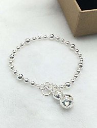 Bracelet Chain Bracelet Sterling Silver Heart Fashion Gift Jewelry Gift Silver1pc