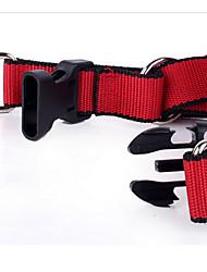 Cães Trelas Segurança Sólido Vermelho Náilon
